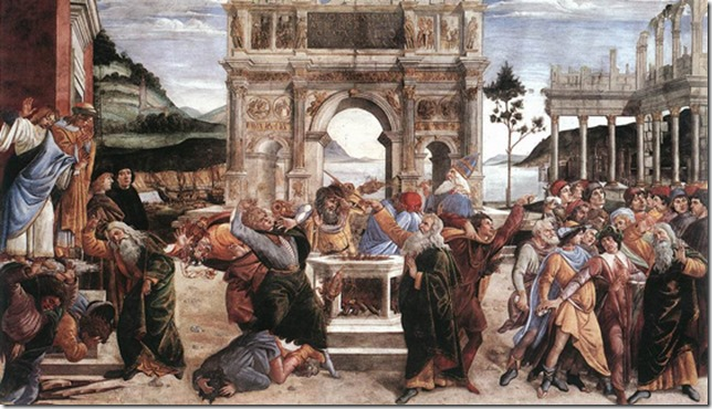 sistine_moses_korach_rebellion_Botticelli