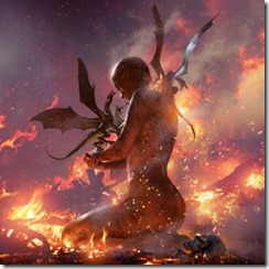 Daenerys the Unburnt with hatched dragons by Michael Komarck