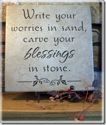 worries in sand