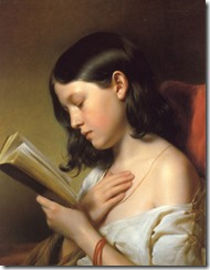 Franz Eybl Girl reading 1850